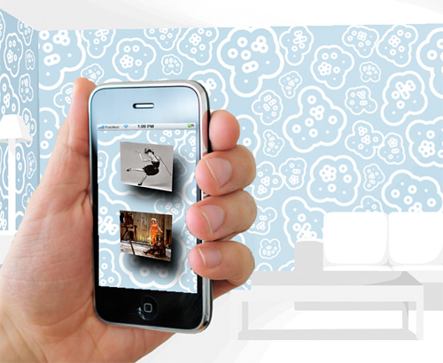 FabLabWall Wallpaper (Image courtesy NoDesign)