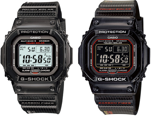 Casio G-Shock GW-5600 Carbon Fiber Editions (Images courtesy Casio)
