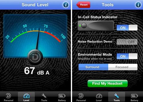 EarPrint App (Images courtesy Sound ID)