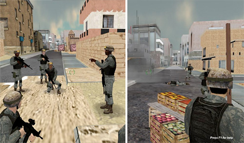 Tactical Combat Casualty Care Simulation (Images courtesy Engineering & Computer Simulations, Inc.)