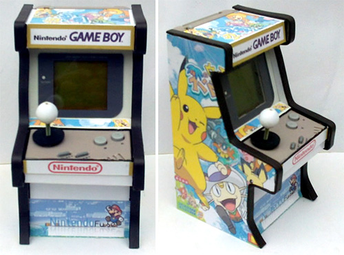 Custom GameBoy Arcade Mod (Images courtesy XCKDIY)
