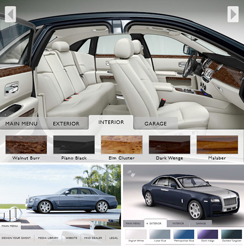 Rolls-Royce Ghost App (Image courtesy iTunes App Store)