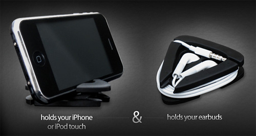 iANGLE iPhone Stand/Headphone Wrap (Image courtesy Versed General)