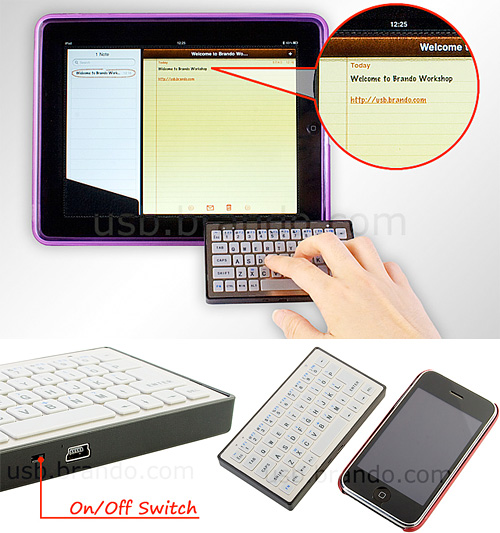 Slim Bluetooth Keyboard (Images courtesy Brando)