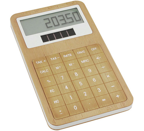 Lexon's Bamboo Calculator (Image courtesy Lexon)