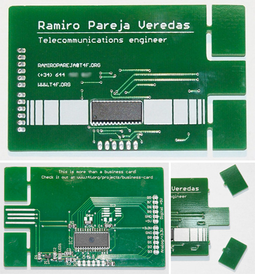 PCB Business Card (Images courtesy Ramiro Pareja Veredas)