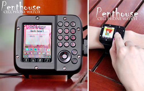 Penthouse Cell Phone Watch (Images courtesy Chinavasion)