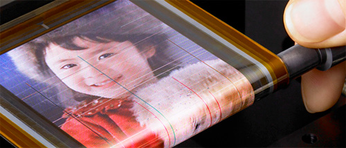 Sony's Rollable OTFT-driven OLED Display (Image courtesy Sony)