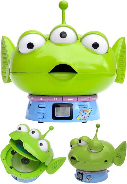 Toy Story Alien CD Player + Radio (Images courtesy RUN'A)