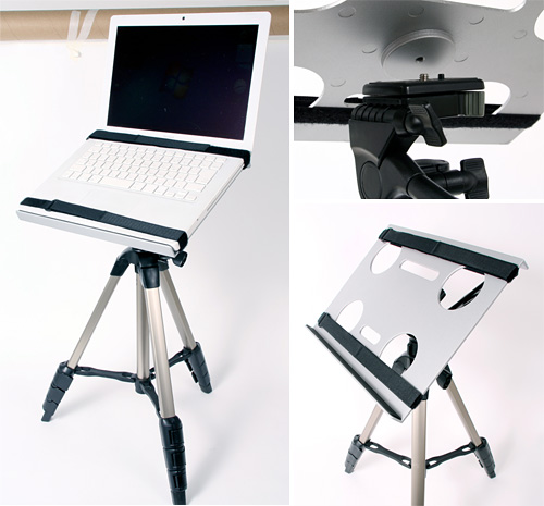 Laptop Tripod Stand (Images courtesy Thanko)