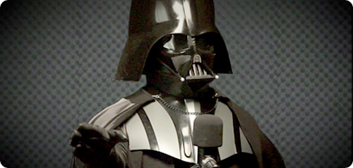 Darth Vader Recording For TomTom (Image courtesy TomTom)