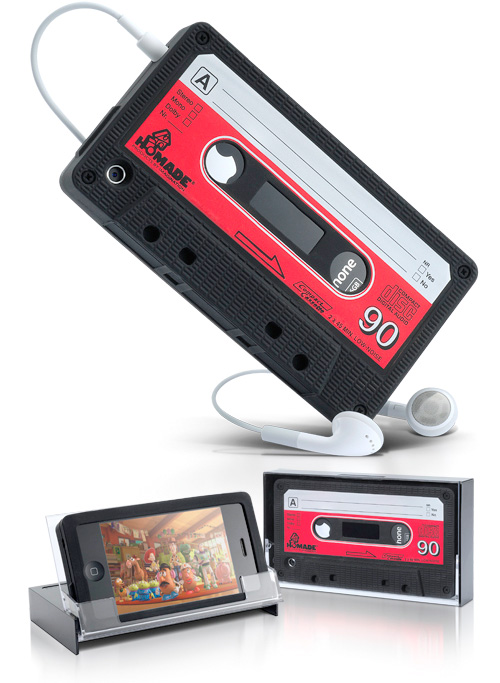 iPhone Retro Cassette Cover (Images courtesy thumbsUp!)