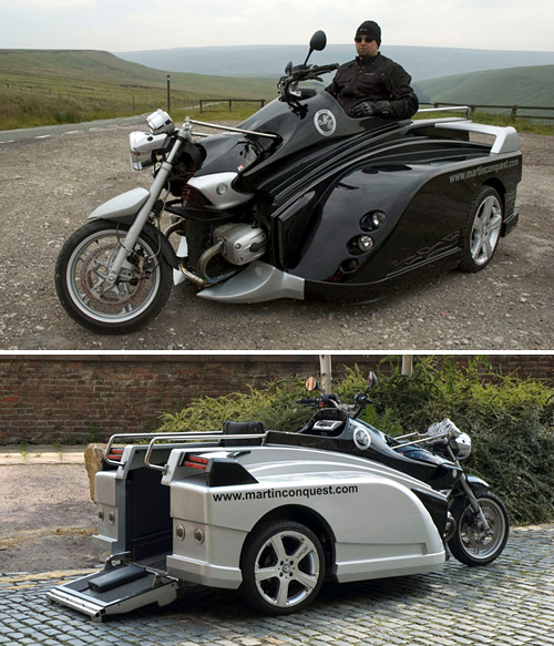 Conquest Wheelchair Motorcycle (Image courtesy Mobility Conquest)