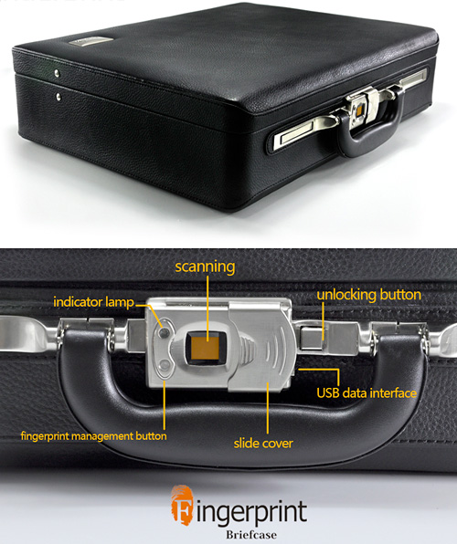 Fingerprint Security Briefcase (Images courtesy Chinavasion)