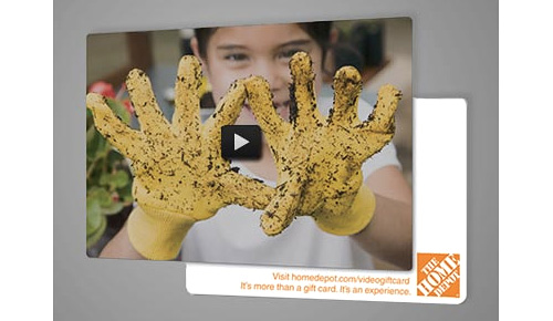 Home Depot's Augmented Reality Video Gift Card (Image courtesy Home Depot)