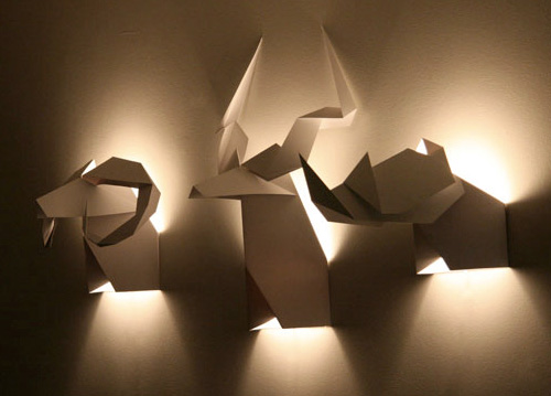 Origami's Hunter Lamps (Image courtesy Sistudio)