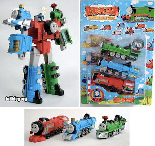 Transformable Tomas (Images courtesy FAIL Blog)