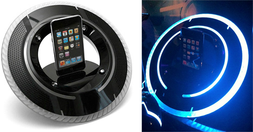 Tron Legacy iPod Dock (Images courtesy Disney and CNET)