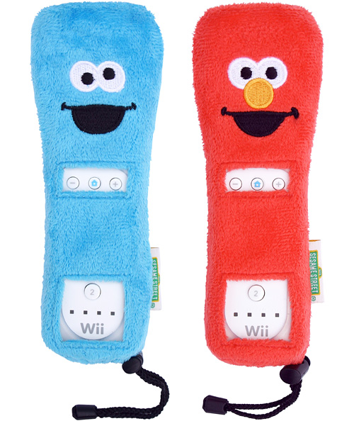 Cookie Monster And Elmo Fuzzy Wiimote Covers (Images courtesy Business Wire)