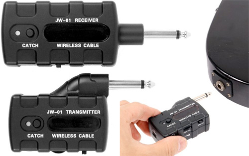 USB Wireless Guitar Tansmitter & Receiver (Images courtesy Geek Stuff 4 U)
