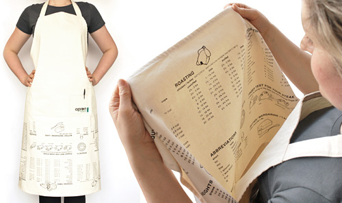 Apron Cooking Guide (Images courtesy SUCK UK)