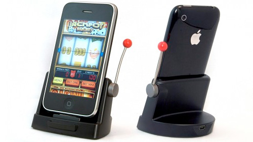 Jackpot Slots iPhone Dock (Images courtesy Cult of Mac)