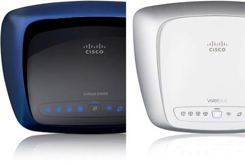 Cisco Valet And Linksys E-Series Routers (Images courtesy Cisco)