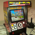 Adorable Mini Daytona USA Arcade Cabinet