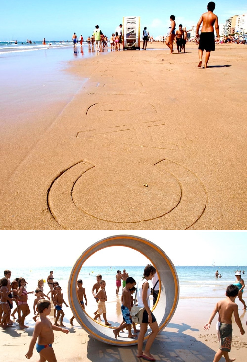 Sand-Printer (Images courtesy rebel:art)