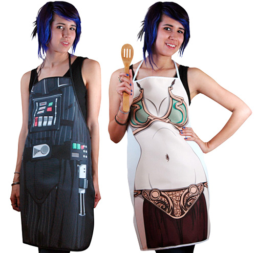 Darth Vader & Slave Leia Aprons (Images courtesy StarWarsShop.com)
