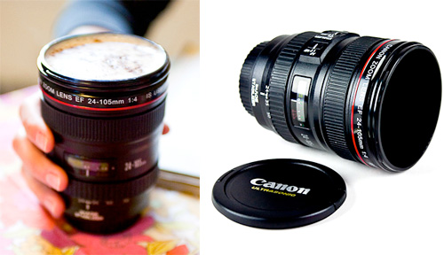 Canon Camera Lens Mug (Images courtesy Photojojo)