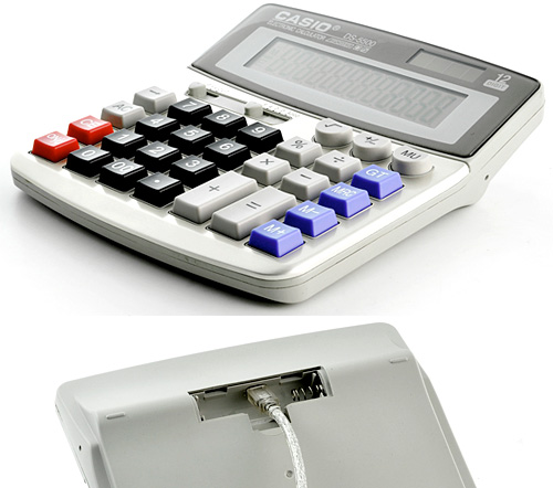 Casio DS-5500 Desktop Calculator Spycam (Images courtesy Chinavasion)