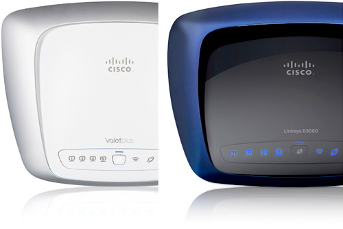 Cisco Valet Plus M20 & Linksys E3000 Wireless Routers (Images courtesy Cisco)