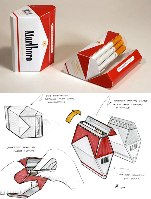 Redesigned Diamond Cigarette Packaging (Images courtesy Erik Askin)