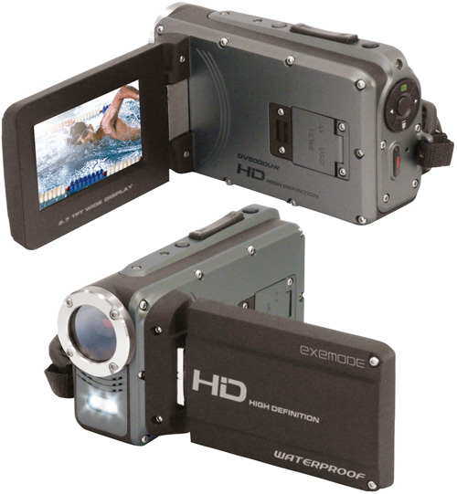 EXEMODE DV5000UW Waterproof Camcorder (Images courtesy EXEMODE)