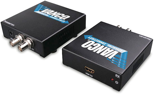HDMI Over Coaxial Cable Extender (Image courtesy Vanco)