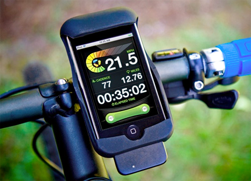LiveRider Bike Computer (Image courtesy New Potato Technologies)