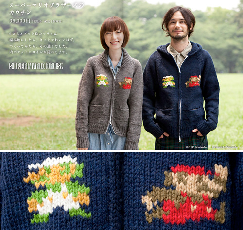 Knitted Mario Sweaters (Images courtesy 1101.com)
