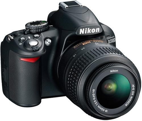 Nikon D3100 (Image courtesy Nikon)