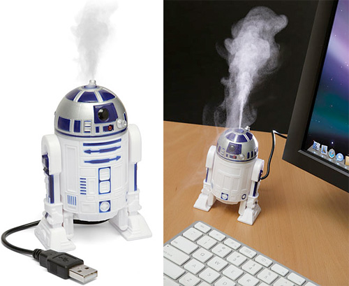 R2-D2 USB Humidifier (Images courtesy ThinkGeek)