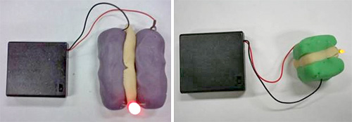Squishy Circuits (Images courtesy Samuel Johnson and AnnMarie Thomas)