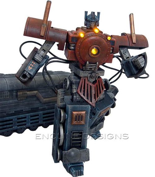 Steampunk Optimus Prime (Image courtesy Encline Designs)