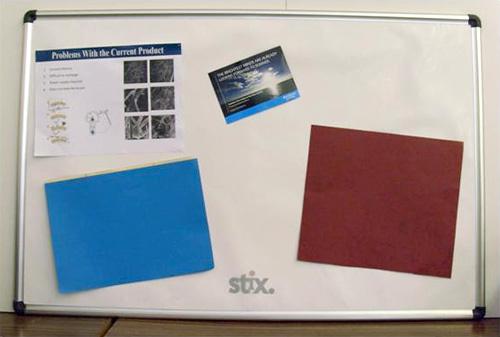 Stix Electrostatic Noticeboard (Image courtesy Jonathan Jordan)