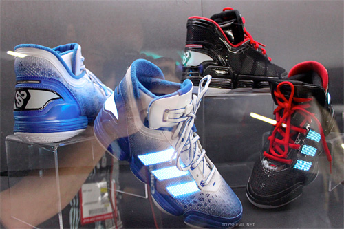 TRON: Legacy Adidas Sneakers (Image courtesy TOYSREVIL)