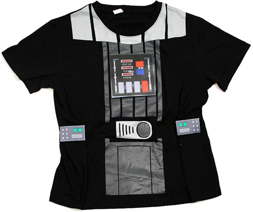 Light-Up Darth Vader T-Shirt (Image courtesy StarWarsShop.com)