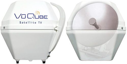 VuQube Portable Satellite Dish (Images courtesy SkyMall)