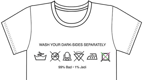 """How to Wash Your Dark Sides"" T-Shirt (Image courtesy StarWarsShop)"
