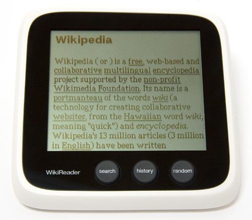 WikiReader (Image property OhGizmo!)