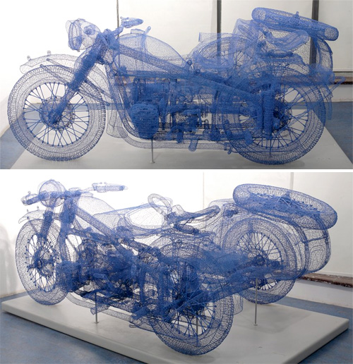 Wireframe Chiangjiang 750 Motorcycle (Images courtesy Hell For Leather)