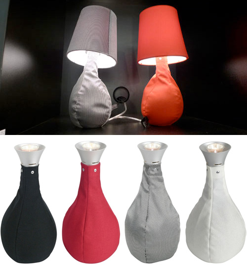 Sompex Beanbag Lamps (Images courtesy Design Milk & Contemporary Heaven)